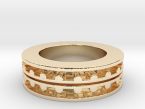 Ring of Life | Men Size 8 in 14k Gold Plated Brass
