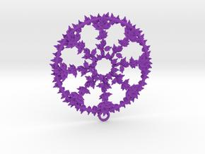 Hub Cap Leafy Wheel in Purple Processed Versatile Plastic