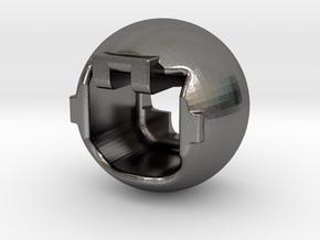 Kugel in Polished Nickel Steel