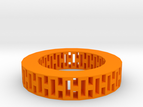Rectangle holes bracelet in Orange Processed Versatile Plastic