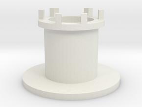 Recordplayeradapter v001 in White Natural Versatile Plastic