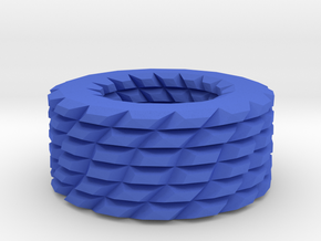 Shapes pattern bracelet in Blue Processed Versatile Plastic