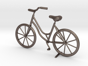 Bicycle in Polished Bronzed Silver Steel