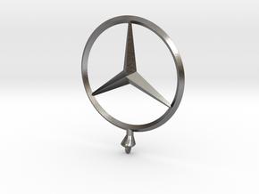 Mercedes Benz Star Ø 75mm  in Polished Nickel Steel