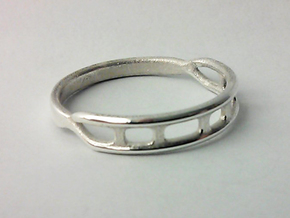 Biota Ring in Polished Silver