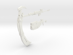 RWBY Crescent Rose - Both forms in White Natural Versatile Plastic