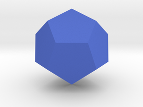 Dodecahedron in Blue Strong & Flexible Polished