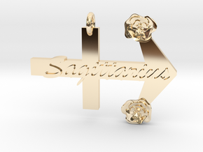 Sagittarius Pendant in 14k Gold Plated Brass