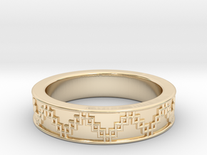 3D Printed Victory Ring | Men Size 9  in 14k Gold Plated Brass