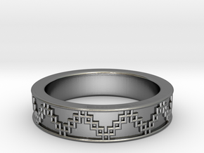 3D Printed Victory Ring | Men Size 9  in Polished Silver