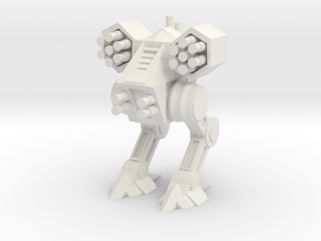 Bipedal Mech in White Natural Versatile Plastic