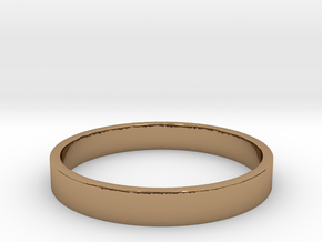 Simple and Elegant Unisex Ring | Size 9 in Polished Brass