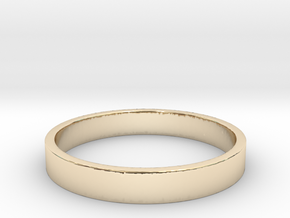 Simple and Elegant Unisex Ring | Size 8 in 14k Gold Plated Brass