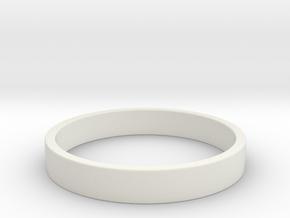 Simple and Elegant Unisex Ring | Size 7 in White Natural Versatile Plastic