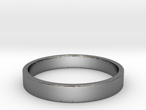 Simple and Elegant Unisex Ring | Size 7 in Polished Silver