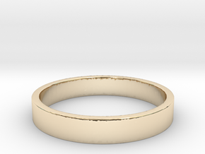 Simple and Elegant Unisex Ring | Size 6 in 14k Gold Plated Brass