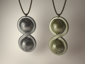 Infinite Worlds Pendant in Natural Silver