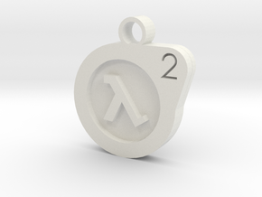 Half-life Pendant in White Strong & Flexible
