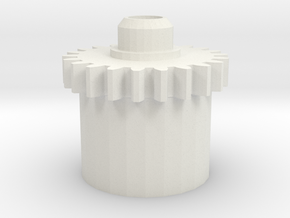 DS Motor Gear in White Natural Versatile Plastic