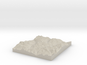 Model of Mont Blanc de Seilon in Sandstone