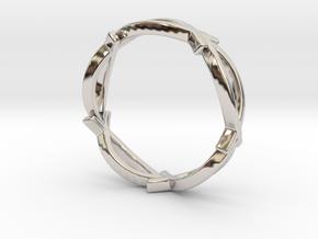 Jesus Fish Eterniy Style Ring Size 8 in Rhodium Plated Brass