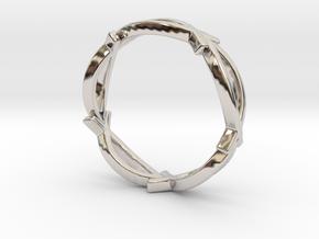 Jesus Fish Eterniy Style Ring Size 9 in Rhodium Plated Brass