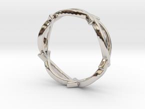 Jesus Fish Eterniy Style Ring Size 12 in Rhodium Plated Brass