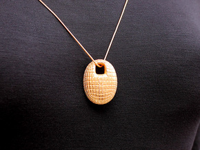 Idest Pendant #2246 in Polished Gold Steel