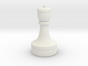 Acorn Print in White Natural Versatile Plastic