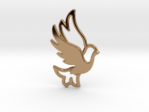 Dove combination pendant in Polished Brass