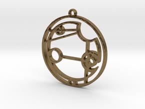 Addison - Necklace in Raw Bronze