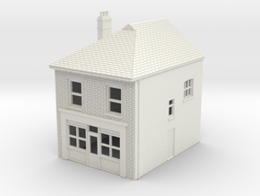TFS-22 N Scale Topsham Fore Street building 1:148 in White Natural Versatile Plastic