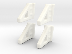 ZMR250 Landing Gear(NEW FOUR PACK) in White Processed Versatile Plastic
