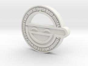Laughing Man Pendant in White Natural Versatile Plastic