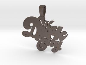 New Dork City Keychain in Polished Bronzed Silver Steel