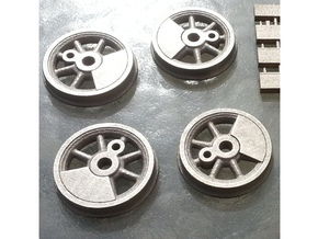 1:20.32 scale wheels  in Polished Nickel Steel