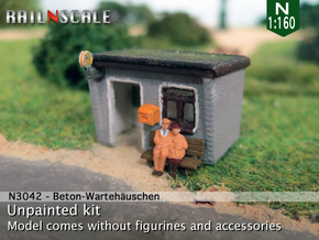 Beton-Wartehäuschen (N 1:160) in White Strong & Flexible