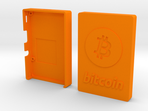 Case for Rasperry Pi 2, 3 or B+ with Bitcoin logo in Orange Strong & Flexible Polished