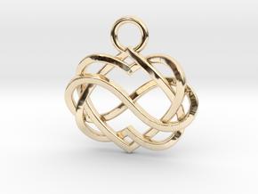 Infinity Heart Pendant in 14K Yellow Gold