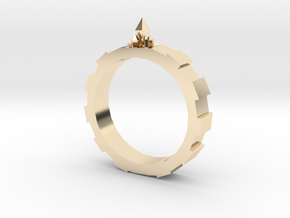 Gem-gear Ring in 14K Yellow Gold