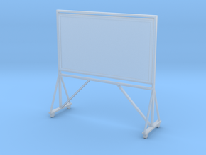 Miniature  1:48 Chalkboard in Smooth Fine Detail Plastic