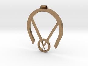 Passive Aggressive Pendant in Natural Brass