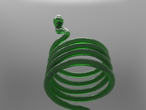 Snake Ring in Green Processed Versatile Plastic