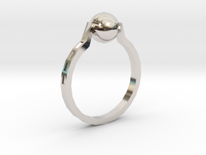 Twisted Ring in Rhodium Plated Brass