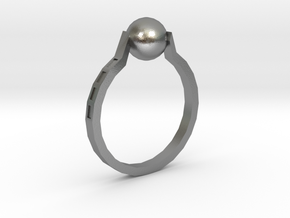 Twisted Ring in Natural Silver