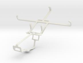 Controller mount for Xbox One & Alcatel Pop C9 in White Natural Versatile Plastic