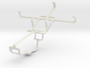 Controller mount for Xbox One & Alcatel Pop S3 in White Natural Versatile Plastic