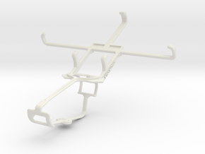 Controller mount for Xbox One & BlackBerry Z3 in White Natural Versatile Plastic