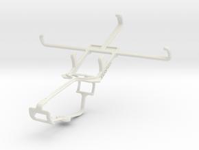 Controller mount for Xbox One & BLU Studio 5.0 C in White Natural Versatile Plastic