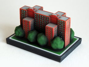 Stuyvesant Town Building 8 x 4 in Full Color Sandstone